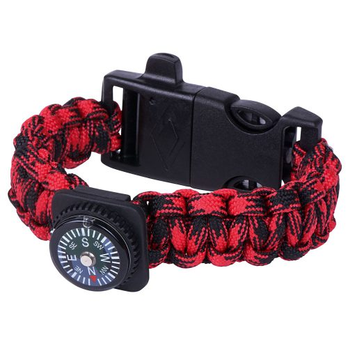Survival armband - rood