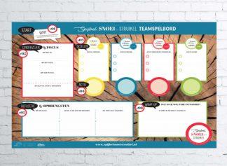 Teamspelbord Spijbel Snoei Struikel - Jaarpakket (10 posters)