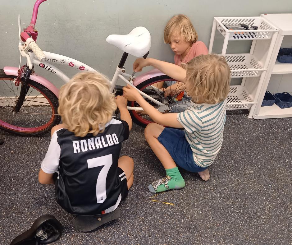 Thema fietsenwinkel